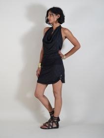 "Vestido espalda abierta \""Akasha Drop\"", Negro"