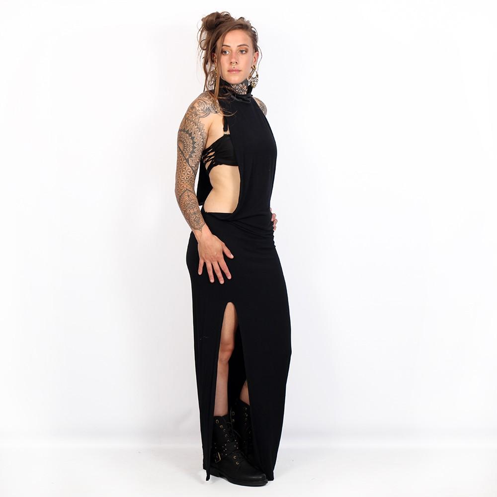 """Vestido largo \""""Elenna\"""", Negro"""