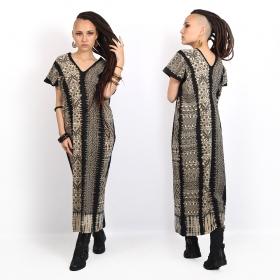 """Vestido largo \""""Gypsy Mexico\"""", Negro"""