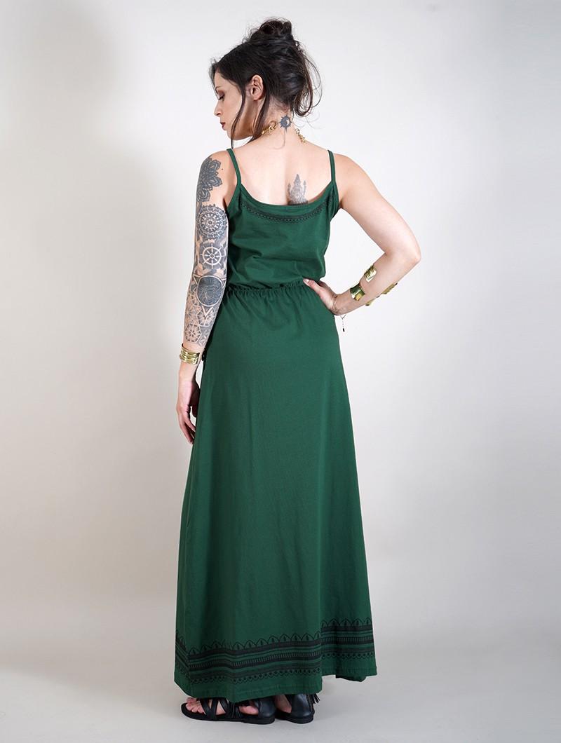 "Vestido largo \""Indie Oromë\"", Verde bosque"