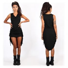 """Vestido largo \""""Lychandra\"""", Negro"""