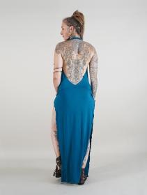 """Vestido largo \""""Waheeda\"""", Azul petróleo"""