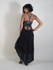 """Vestido medio \""""Nuria\"""", Negro"""