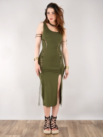 "Vestido midi \""Angelina\"", Verde oliva"
