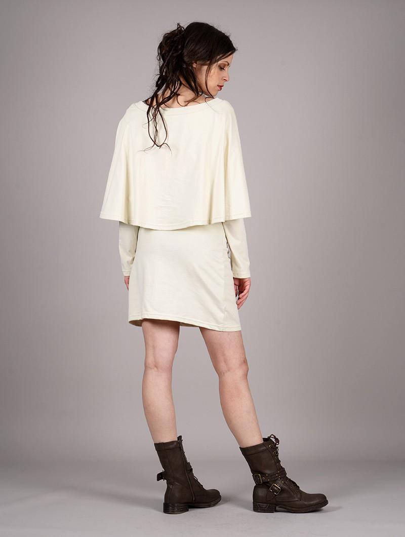 """Vestido poncho \""""Yarayn Ethnic Arrow\"""", Beige"""