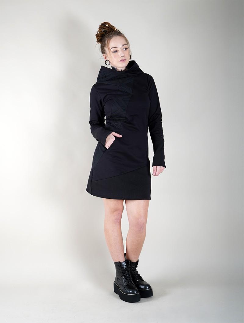 "Vestido sudadera \""Shona\"", Negro"
