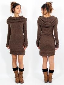 """Vestido suéter \""""Chryzalide\"""", Marrón"""