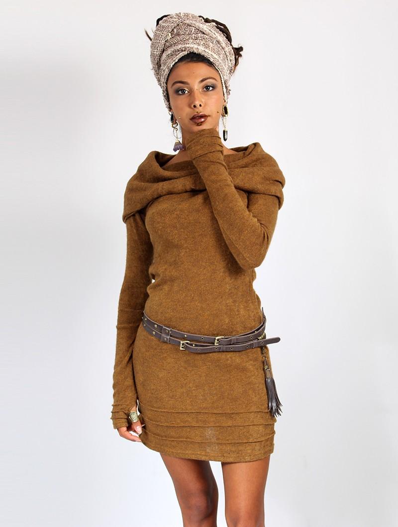 """Vestido suéter \""""Chryzalide\"""", Óxido"""