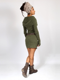 "Vestido suéter \""Chryzalide\"", Verde caqui"