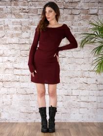 "Vestido suéter \""Karmäa\"", Burdeos"