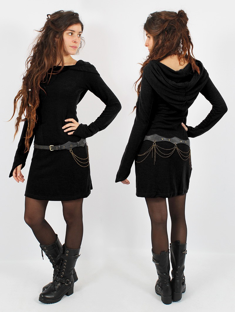 "Vestido suéter \""Karmäa\"", Negro"