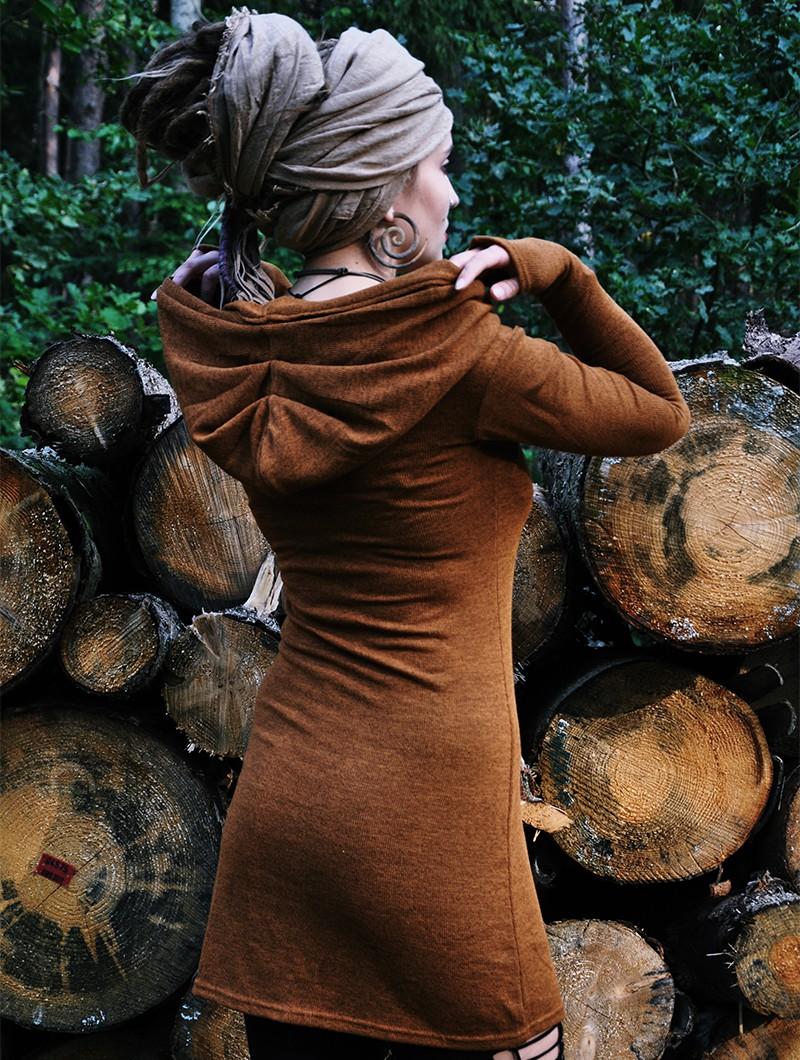 """Vestido suéter \""""Karmäa\"""", Óxido"""