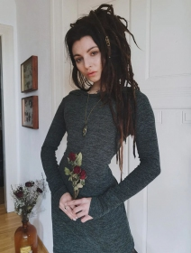 "Vestido suéter \""Karmäa\"", Verde liquen"