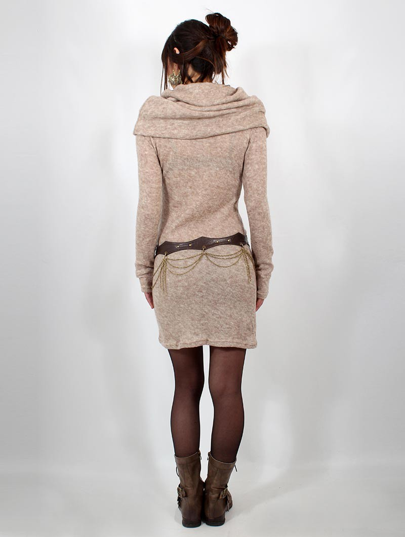 """Vestido suéter \""""Mantra\"""", Beige"""