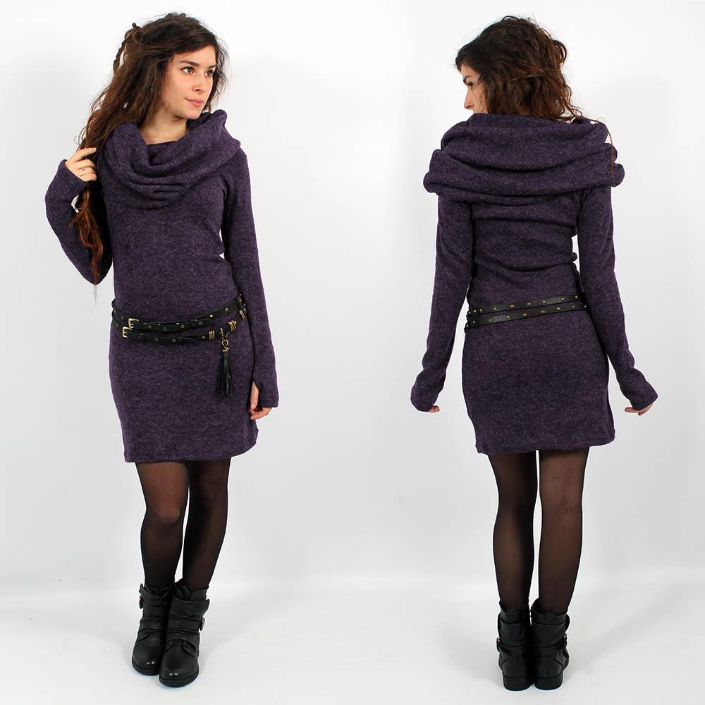 """Vestido suéter \""""Mantra\"""", Morado"""