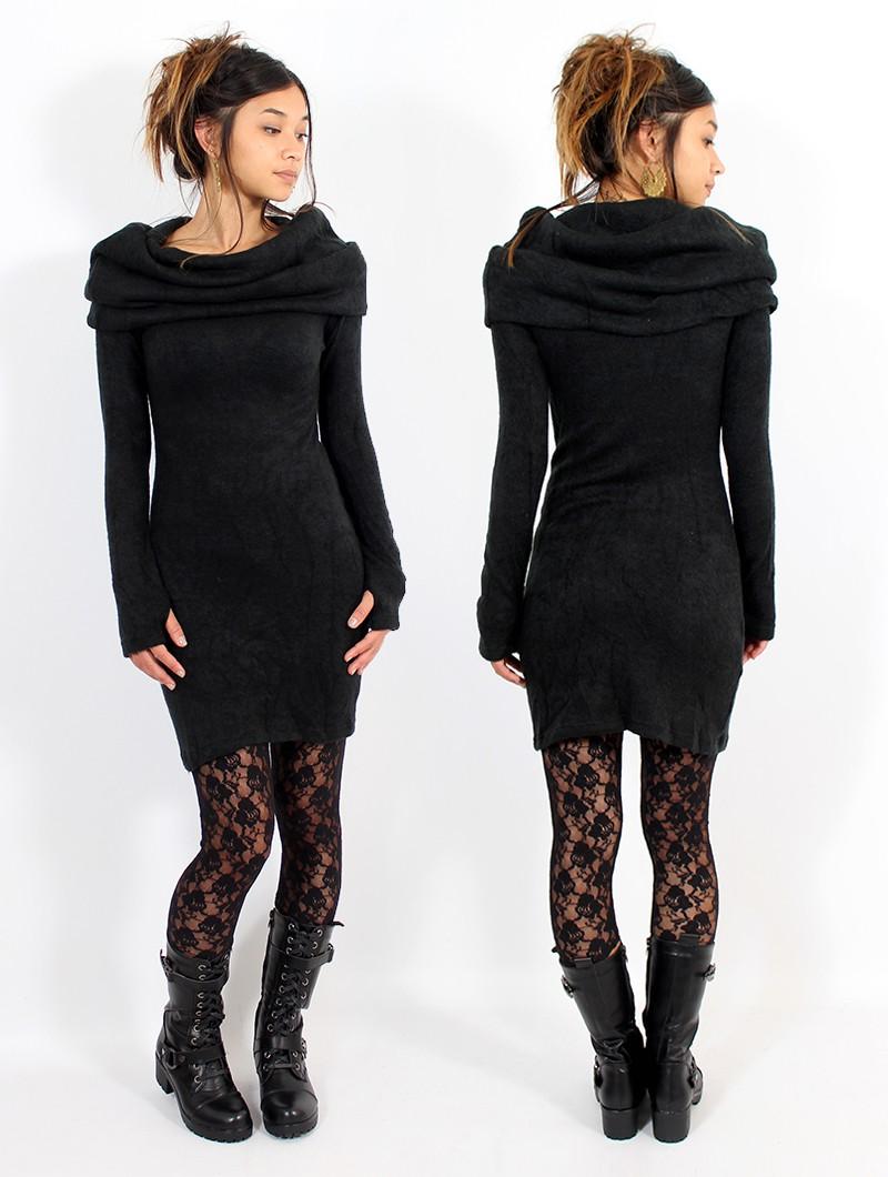 """Vestido suéter \""""Mantra\"""", Negro"""