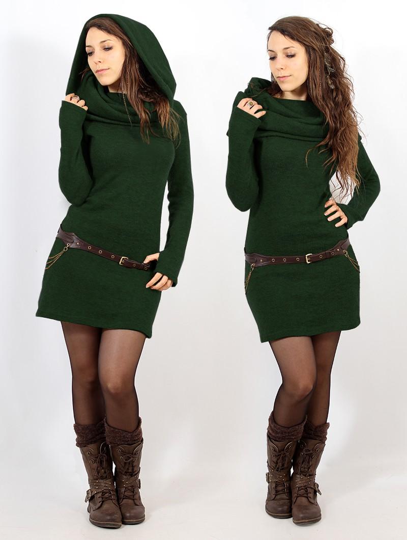 """Vestido suéter """"Mantra"""", Verde bosque"""