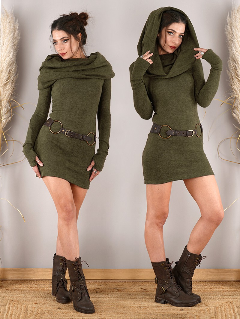 """Vestido suéter \""""Mantra\"""", Verde oliva"""