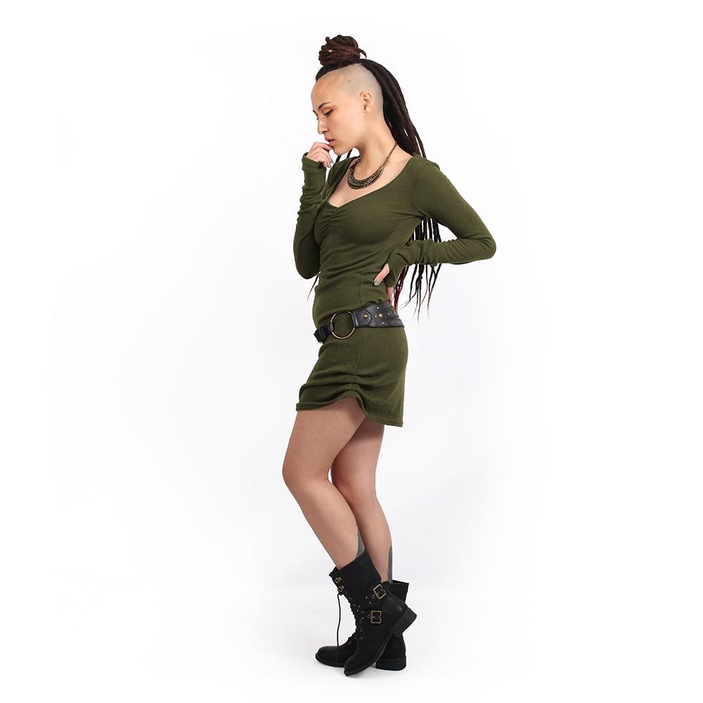"Vestido suéter \""Nikkäa\"", Verde caqui"