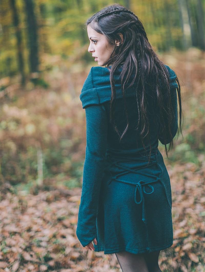 """Vestido suéter \""""Shaë\"""", Azul petróleo"""