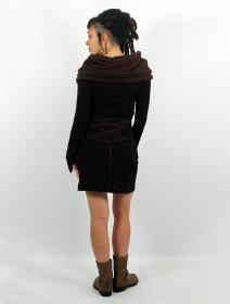 """Vestido suéter \""""Shaë-Lï\"""", Negro y marrón"""