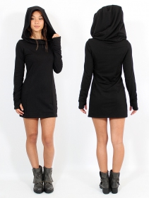 "Vestido tipo sudadera \""Myäa\"", Negro"
