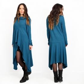 "Vestido túnica \""Kajula\"", Azul petróleo"