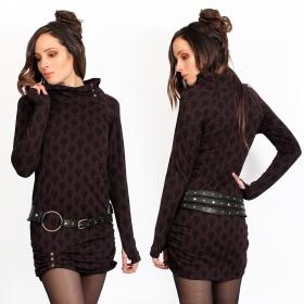 """Vestido túnica \""""Loba Drop\"""", Ciruela"""