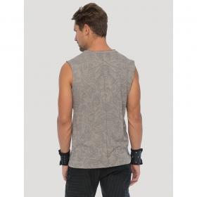 "\""Warrior\"" sleeveless T-shirt, Steel"