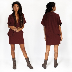 "Witch sleeveless pullover shawl ""Amala\"", Wine"