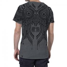 "\""Yanshu\"" camiseta, Moteado gris"