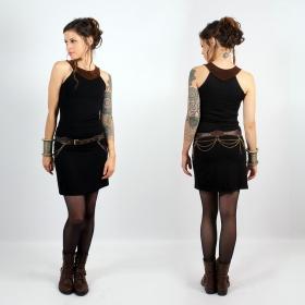 "Yggdrazil \\\""Kleöo\\\"" dress, Black and brown"