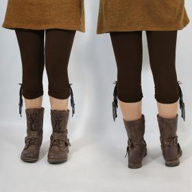"""Yggdrazil \\\""""Li-Zö\\\"""" legging, Brown black lace"""