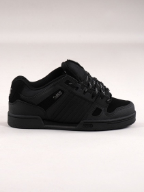 Zapatillas de skate DVS Celsius, Cuero negro