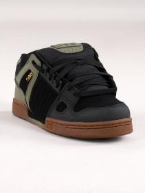 Zapatillas de skate DVS Celsius, Cuero negro y verde oliva