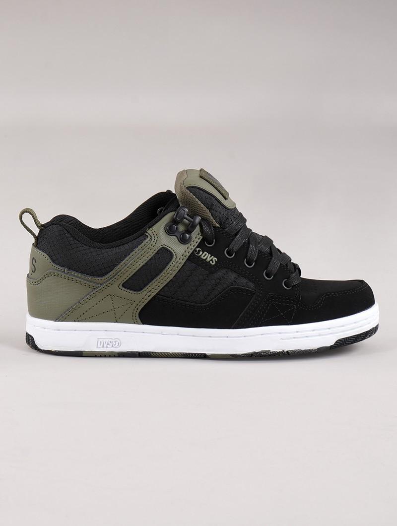 Zapatillas de skate DVS Enduro 125, Cuero negro y verde oliva