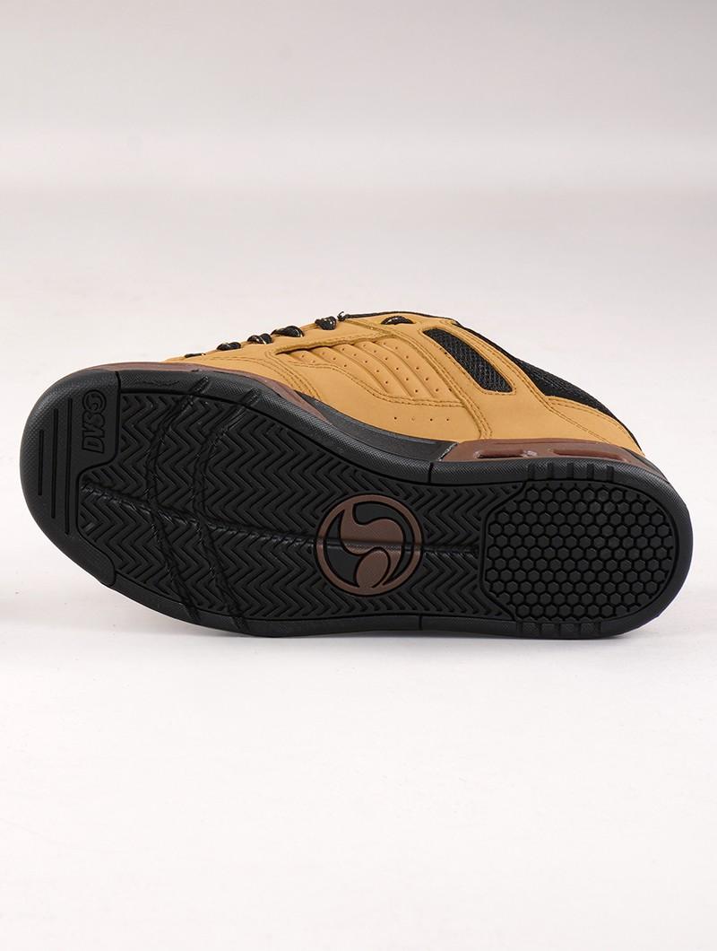 Zapatillas de skate DVS Enduro Heir, Cuero camel y detalles negros