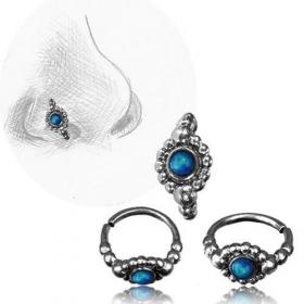 "\\\""Zeya blue Opal Pali\\\"" nose ring"