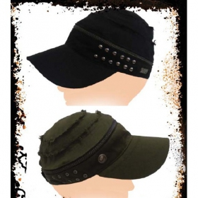 "\""zip off\\\"" cap, black"